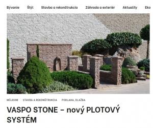 VASPO STONE – nový PLOTOVÝ SYSTÉM