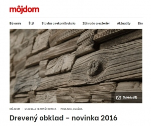Drevený obklad – novinka 2016